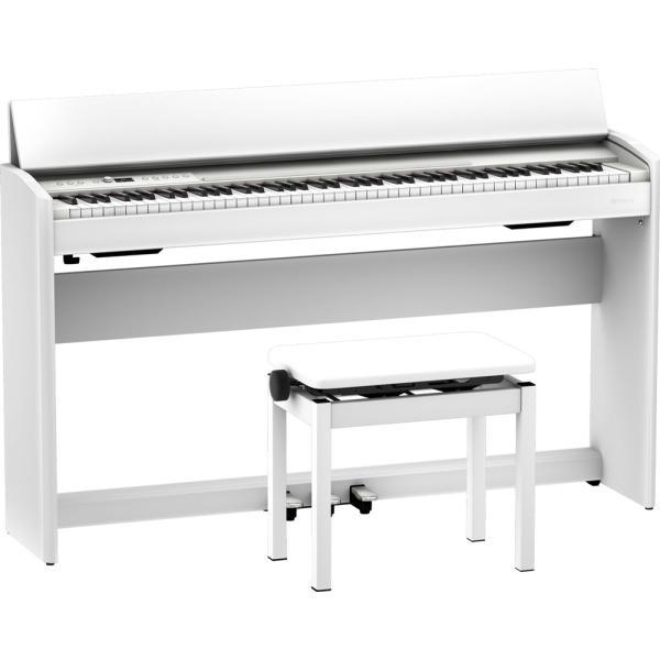 ローランド電子ピアノ(ホワイト)(高低自在椅子&ヘッドホン&楽譜集付き)RolandPianoDigitalF701-WH返品種