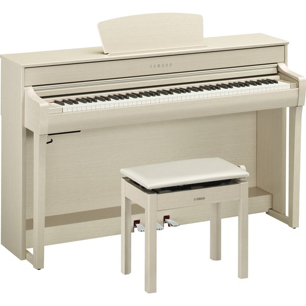 ヤマハ 電子ピアノ(ホワイトアッシュ調)(高低自在椅子&ヘッドホン&ソングブック付き) YAMAHA Clavinova(クラビノーバ) CLP-735WA 返品種別A