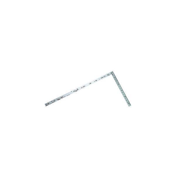 シンワ測定 曲尺 ツーバイフォー 2×4/ 50cm 併用目盛 19mm巾(シルバー) 10055 返品種別A