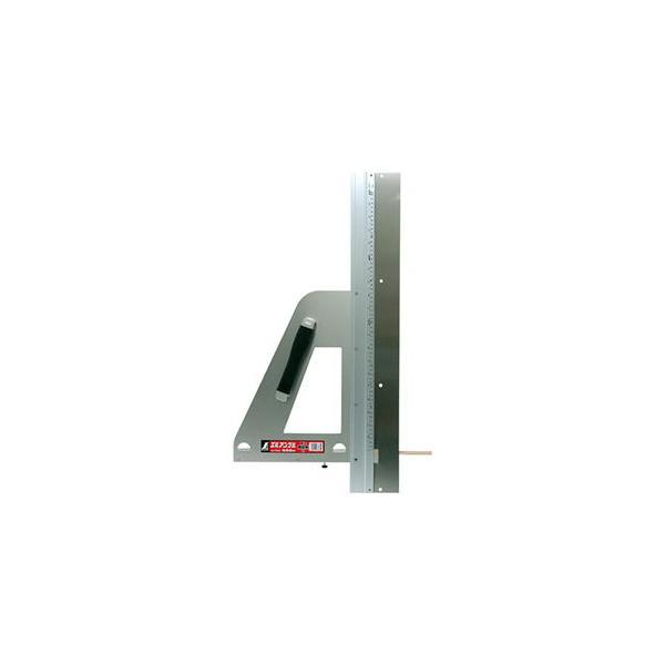 シンワ測定 丸ノコガイド定規 エルアングル 60cm 併用目盛 補助板付 77883 返品種別A