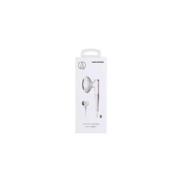 オーディオテクニカ Bluetooth対応ダイナミックセミオープン型イヤホン(ホワイト) audio-technica ATH-C200BT-WH 返品種別A