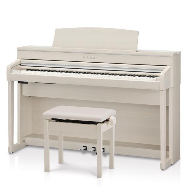 カワイ 電子ピアノ(プレミアムホワイトメープル調)(高低自在椅子&ヘッドホン&楽譜集付き) KAWAI Concert Artist SERIES CA79A 返品種別A