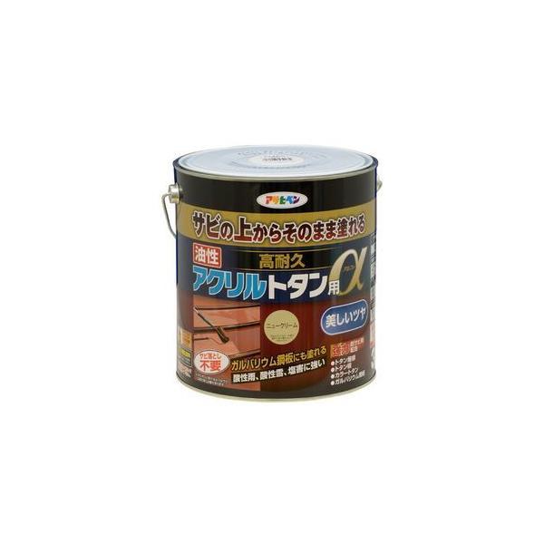 アサヒペン 油性高耐久アクリルトタン用α 3kg (ニュークリーム) 塗料 AP9018273 返品種別B