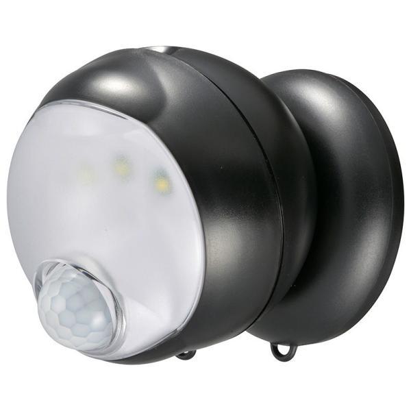 オーム 乾電池式LEDセンサーライト OHM monban LS-BH11SH4-K 返品種別A