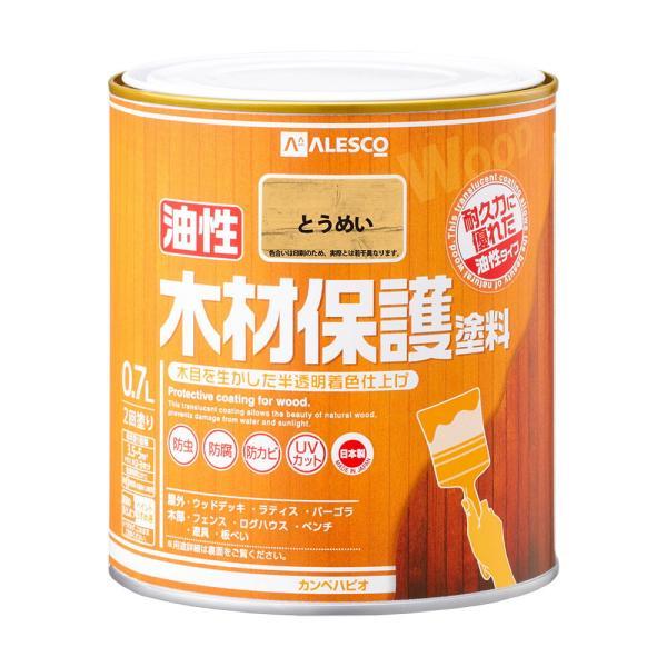 カンペハピオ 油性木材保護塗料 0.7L(とうめい) Kanpe Hapio 00247644001007 返品種別B