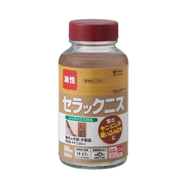 カンペハピオ セラックニス 300ml(黄褐色とうめい) Kanpe Hapio 00327643762300 返品種別B