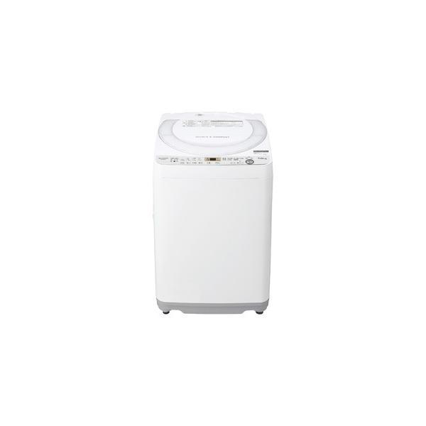 (標準設置 送料無料) シャープ 7.0kg 全自動洗濯機 ホワイト系 SHARP 穴なし槽 ES-GE7C-W 返品種別A|joshin|03