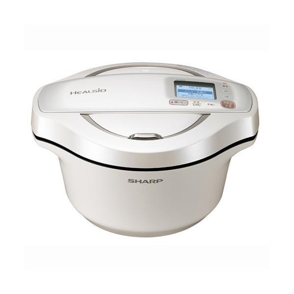 シャープ 水なし自動調理鍋 2.4L ホワイト系 SHARP ヘルシオホットクック KN-HW24E-W 返品種別A|joshin