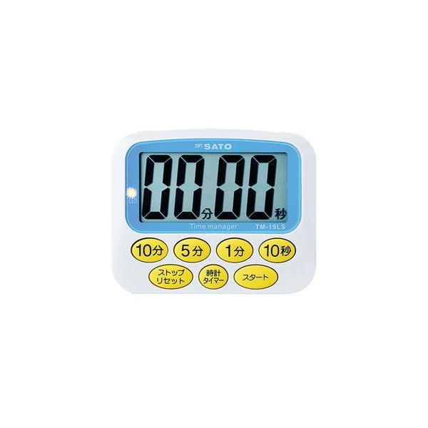 佐藤計量器製作所 大型表示タイマー デカタイマー TM-19LS(8-9267-11) 返品種別A