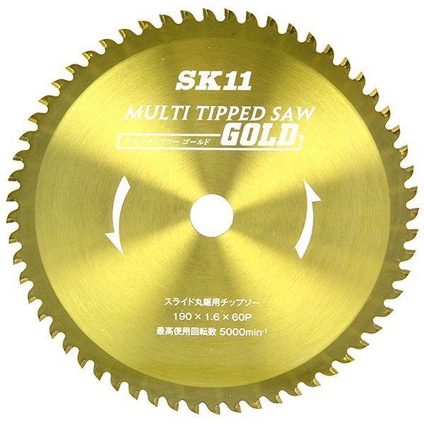 SK11マルチチップソーゴールドスライド丸鋸用190×20mm×60P藤原産業MULTIスライド190返品種別A