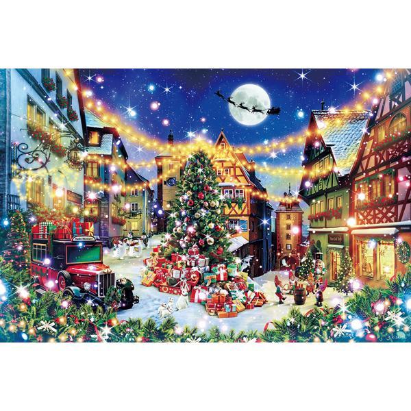 エポック社 幻想風景 ローテンブルクの聖夜 1000ピース 光るパズルジグソーパズル 返品種別B