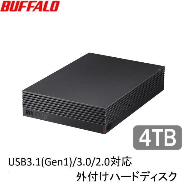 バッファロー USB3.1(Gen1)/ 3.0対応 外付けHDD 4TB(ブラック) HD-LDU3-Aシリーズ HD-LD4.0U3-BKA 返品種別A