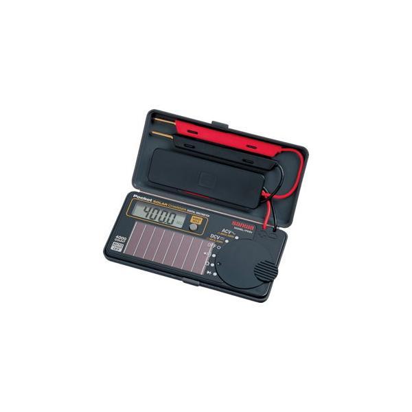 三和電気計器 ソーラー充電ポケット型デジタルマルチメータ PS8A 返品種別B