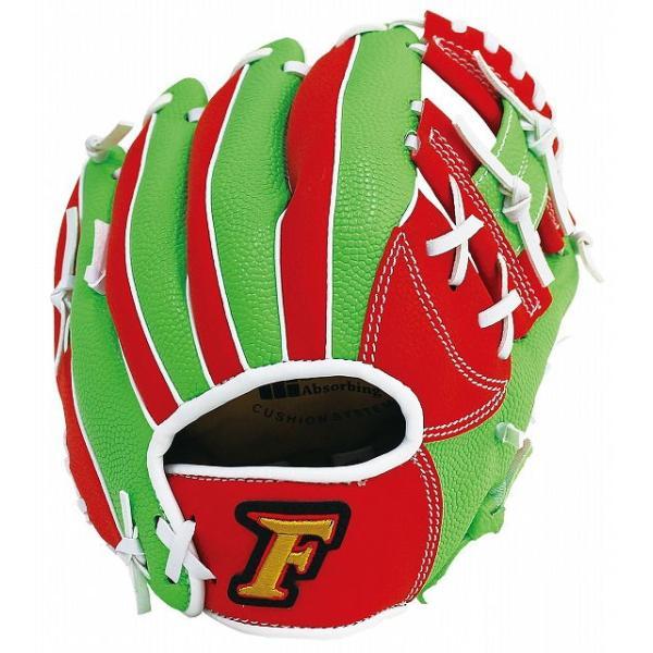 サクライ貿易 少年軟式野球用グラブ(レッド×グリーン・サイズ:Jr-S) FALCON ファルコン 小学校低学年向け FG-1201 返品種別A