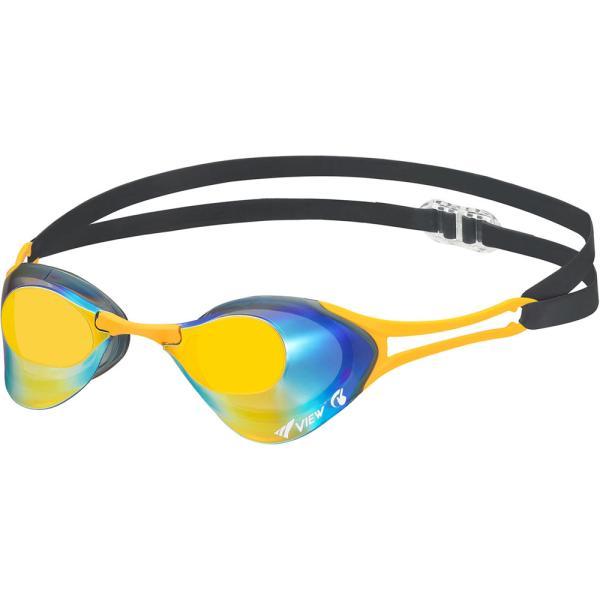 VIEW(ビュー) 競泳用スイミングゴーグル Blade ZERO ミラーレンズ(SKOR) TBT-V127SAM-SKOR 返品種別A