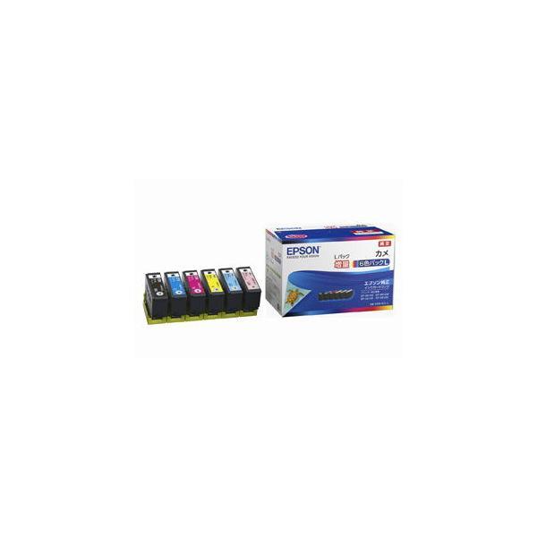 エプソン 純正インクカートリッジ(6色セット・増量) EPSON カメ KAM-6CL-L 返品種別A