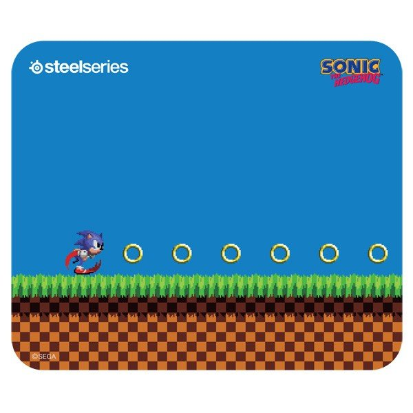 SteelSeries マウスパッド「QcK Sonic the Hedgehog Edition」 63394 返品種別A|joshin