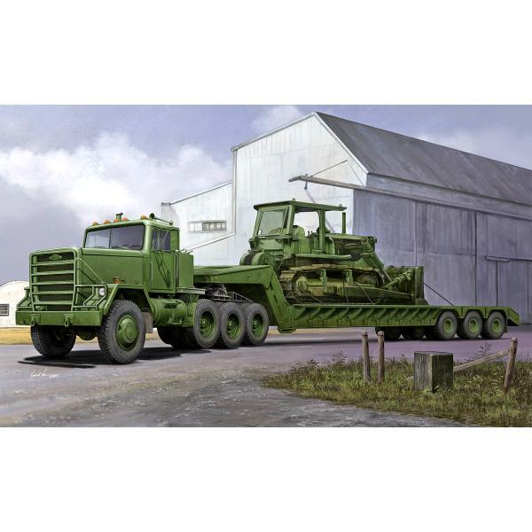 トランペッター1/35M920トラクター/M870A1セミトレーラー(01078)プラモデル返品種別B