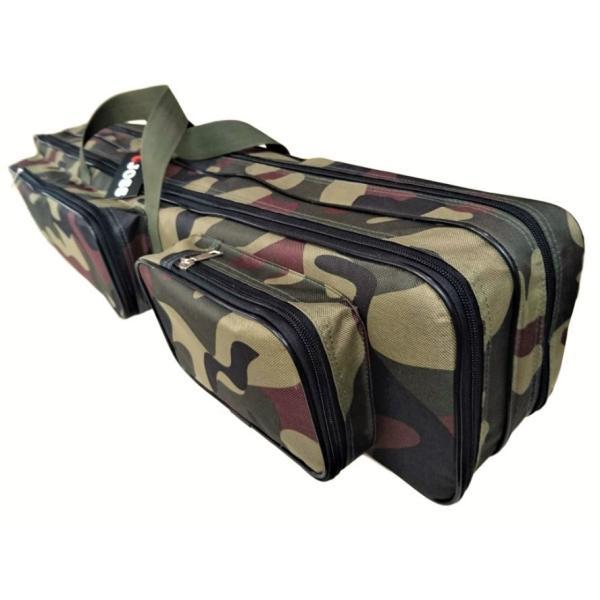 迷彩 長物 120 cm バッグ ポケット付 長尺 ケース 三脚 器材 コスプレ エアガン テント 釣り竿