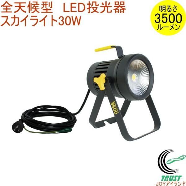 全天候型 LED投光器 スカイライト 30W (WT-2500) 送料無料 屋内 屋外 作業灯 投光器 ライト 照明 照明器具 防災 防犯 停電 災害 非常時
