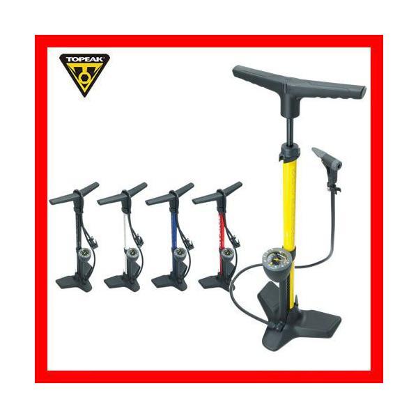 自転車 ポンプ 空気圧ゲージ付 TOPAEK トピーク フロアーポンプ ジョーブロー マックスHP2 PPF05900-04 M|joy