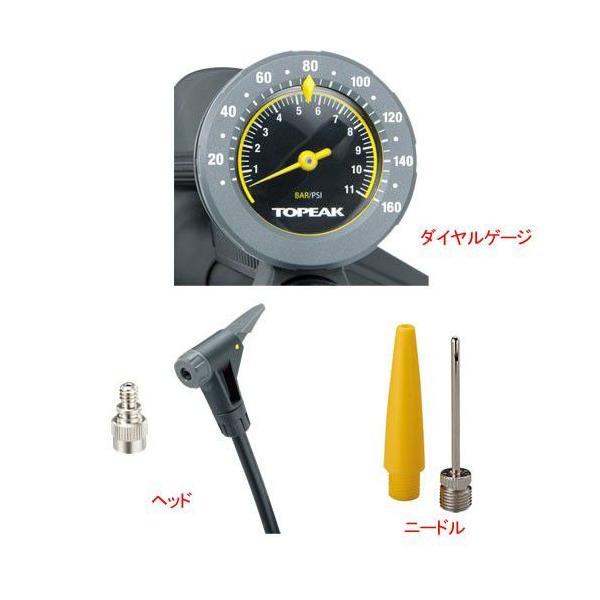 自転車 ポンプ 空気圧ゲージ付 TOPAEK トピーク フロアーポンプ ジョーブロー マックスHP2 PPF05900-04 M|joy|03
