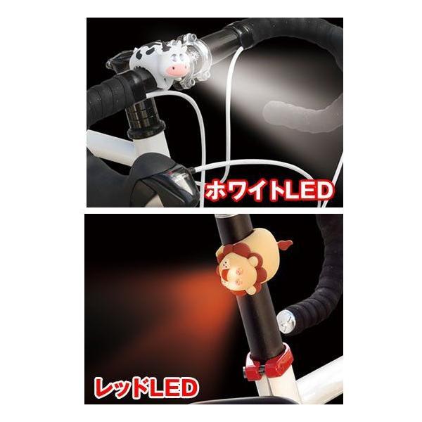 GIZA PRODUCTS ギザプロダクツ ZOONIMAL LIGHT ズーニマルライト (ホワイトLED) ヘッドライト LPF10500-06 自転車 LED フロントライト  M|joy|05