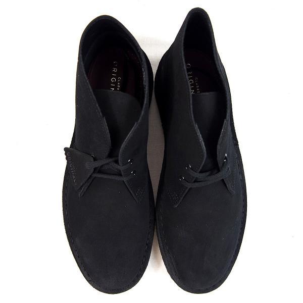 CLARKS  DESERTBOOT  BLACK SUEDE  26138227  クラークス  デザートブーツ  ブラック スエード  メンズ  【並行輸入品】|joyfoot|02
