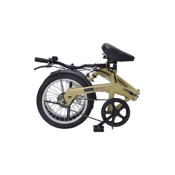 軽自動車にも積める 新タイプ 折り畳み自転車 16インチ MyPallas マイパラス M-100 マットブラック色|joyfulgame|07