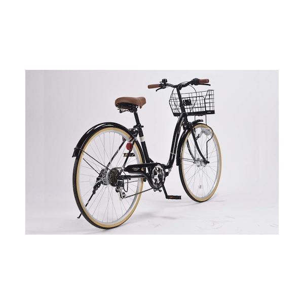 26インチ折り畳み自転車軽量設計低床フレームMyPallasマイパラス6段変速付きシティサイクルM-509PRINTEMPSブラ