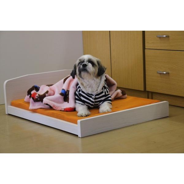 洗えるマットレス付き わんちゃん ペット用 木製ベッド PB-01 友澤木工|joyfulgame