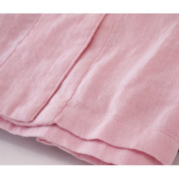 吸水性と保湿力のタオル・ガーゼ素材 ウチノ マシュマロガーゼ レディス パジャマ Lサイズ  ピンク RC15682LP|joyfulgame|04