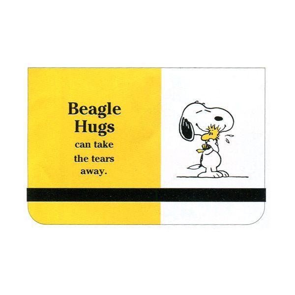 スヌーピー カードファイル イエロー SNOOPY BEAGLE HUG 2