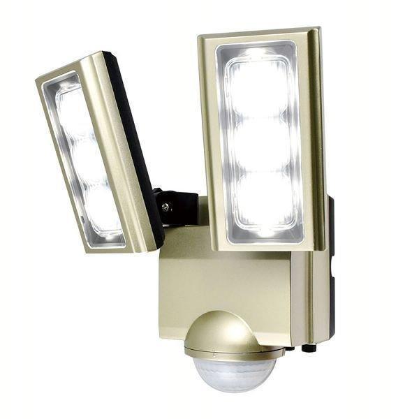 センサーライト 屋外 LED 玄関 AC式 防水 防犯 コンセント セキュリティ AC 拡散パネル2個