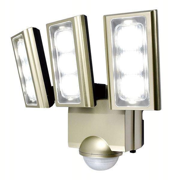 センサーライト 屋外 LED 玄関 AC式 AC 防災 防水 コンセント セキュリティ 拡散パネル3個