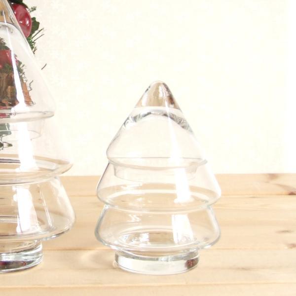 ガラス細工 クリスマス 雑貨 置物   ツリーキャニスター