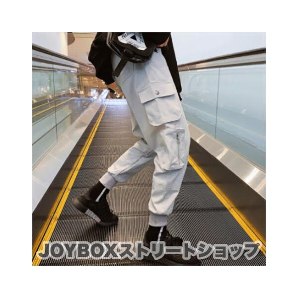 カーゴ ジョガーパンツ 韓国 ダンス 衣装 ヒップホップ ストリート K-POP オルチャン ポケット ファスナー 原宿系 ユニセックス PA-649