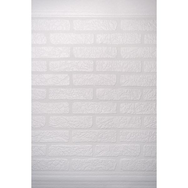 輸入壁紙 rasch 2018 117516 ペンキ下地 白 腰壁 レンガ