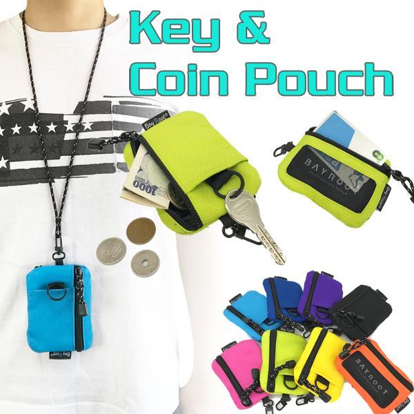 財布小銭入れキーケースカードケース定期入れパスケースコインケースコインポーチ子供ネックストラップ紐付きBayRoot
