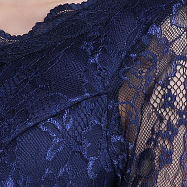 パーティードレス レディース ワンピース 安い 可愛い 結婚式 ワンピースドレス 花柄レース Aライン ウエストマーク レースチュール フロントリボン|jp-encore|09