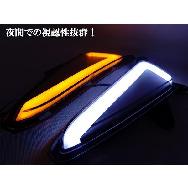 トヨタ CH-R CHR ZYX10 NGX50系 ウィンカー連動 ホワイト&アンバーオレンジ チューブタイプLEDデイライト!|jparts|06