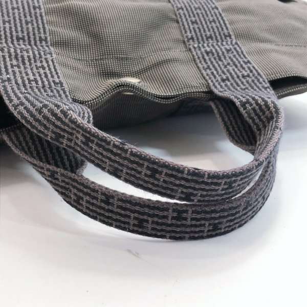 HERMES エルメス トートバッグ エールラインMM キャンバス グレー シルバー金具 メンズ 中古|jpbrands|06