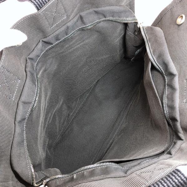 HERMES エルメス トートバッグ エールラインMM キャンバス グレー シルバー金具 メンズ 中古|jpbrands|07