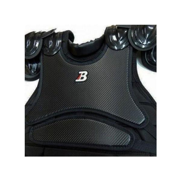 ベルガード 野球・ソフトボール 審判インサイドプロテクター(ショートモデル) 黒(カーボン調パネル仕様) ネーム刺繍付き UP900S-BKCN-NAMEEMBROIDERY1|jpn-sports|02