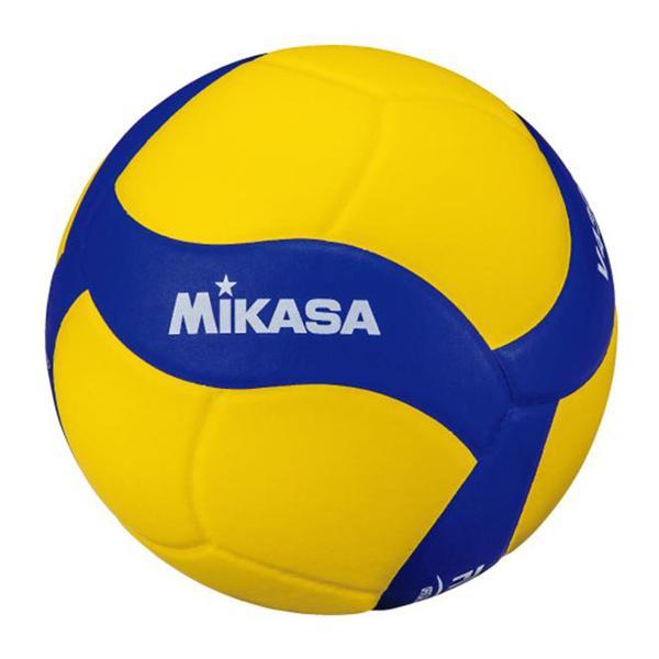 ミカサ お取り寄せ バレーボール4号 練習球 中学 家庭婦人 (ネーム可) イエロー×ブルー V430W