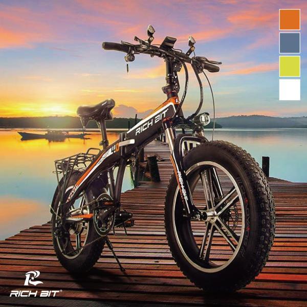 ★オレンジ色限定・期間限定★RICH BIT TOP016鮮やかなスポックタイヤ版 電動バイク「サンドバイク-PLUS」スマホ充電機能付き|jpstars