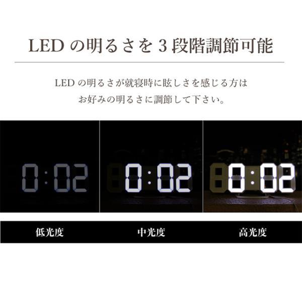 時計 壁掛け オシャレ 置時計 掛け時計 デジタル時計 おしゃれ Tri Clock jpt-teds 06