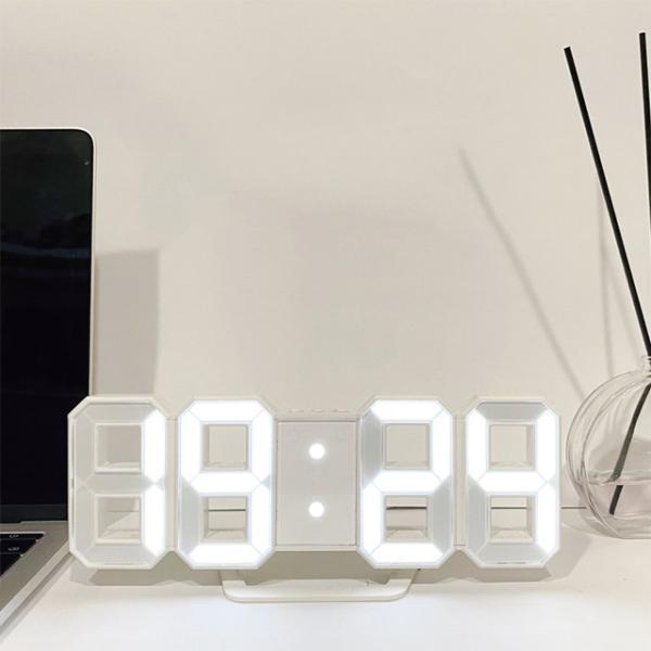 時計 壁掛け オシャレ 置時計 掛け時計 デジタル時計 おしゃれ Tri Clock jpt-teds 07