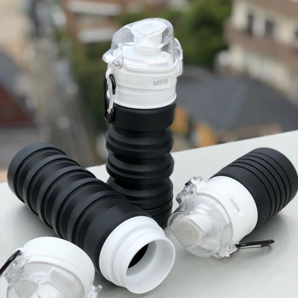 水筒 コンパクト スリム 畳める マイボトル AQUA_hack|jpt-teds