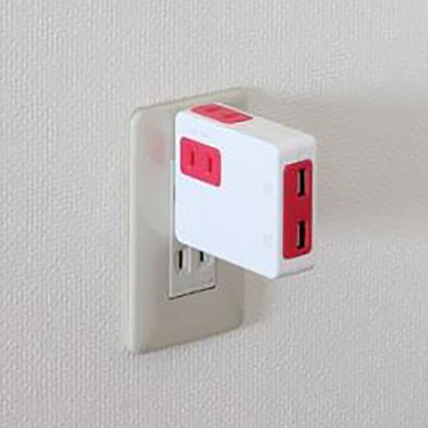 電源タップ USB2個口 コンセント2個口 Nico ニコ おしゃれ|jpt-teds|03